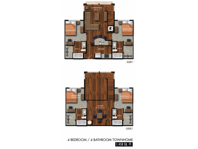 4BR/4BA - Townhouse